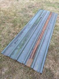 FREE - 1x corrugated roof aluminum sheeting