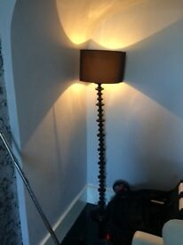 Tall black standing lamp