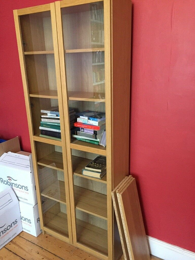 Ikea Billy Bookcase With Glass Doors In Oxford Oxfordshire Gumtree