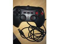 Pc gaming controller red black