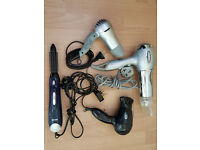 Three Hair Dryers and 1 Styling Hot Brush (Electric)