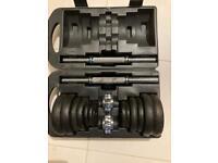 Cast iron York Fitness 20Kg dumbbell set