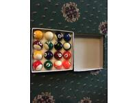 Boxed and brand new pool balls.