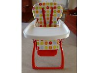 Cosatto Highchair. Folding so easily transportable.