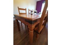 Large Dining Room Table and Chairs (8)