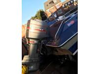 Reduced dateline bounty speed boat 90 mariner outboard engine and good galvanised trailer