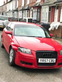 57 plate Audi A3 1.6 special edition damaged salvage cat d