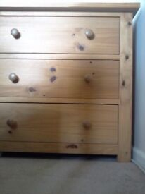 Chest of Drawers, solid pine