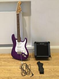 Squire Strat by Fender Affinity Series plus Rocket 10 amp