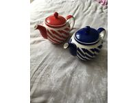 Two whittard teapots excellent condition.