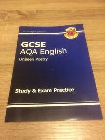GCSE AQA English unseen poetry