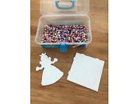Hama beads and 2 boards