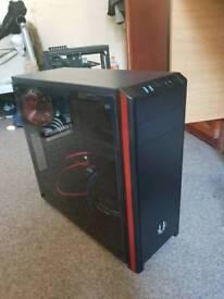 NOVA TG Black/red Mid-Desktop case, 3 X system fans