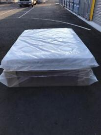 Brand new double bed and mattress in packaging