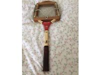Old 'Pancho Gonzales' Spalding wood laminate Tennis Racket with Press