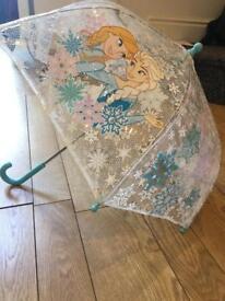 Barbie and frozen umbrellas