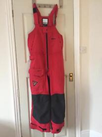 Musto MPX sailing trousers/ salopettes size Extra Large