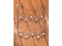 2x Love Heart over door coat hangers