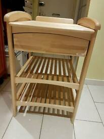 Changing table for sale, real wood