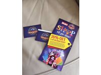 2 ALTON TOWERS TICKETS FOR THURSDAY 7th SEPTEMBER 2017 - 07/09/2017 - ADULT OR CHILD