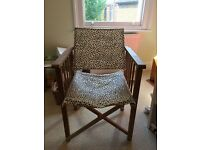 Habitat Africa Oak Directors Chair for sale