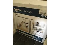 New, boxed, baby dan large safety gate