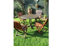 GARDEN TABLE AND CHAIRS .....LOVELY SET