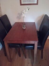 Oak Dining Table & Four Chairs