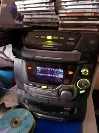 Panasonic 5 disc multiplay hifi system