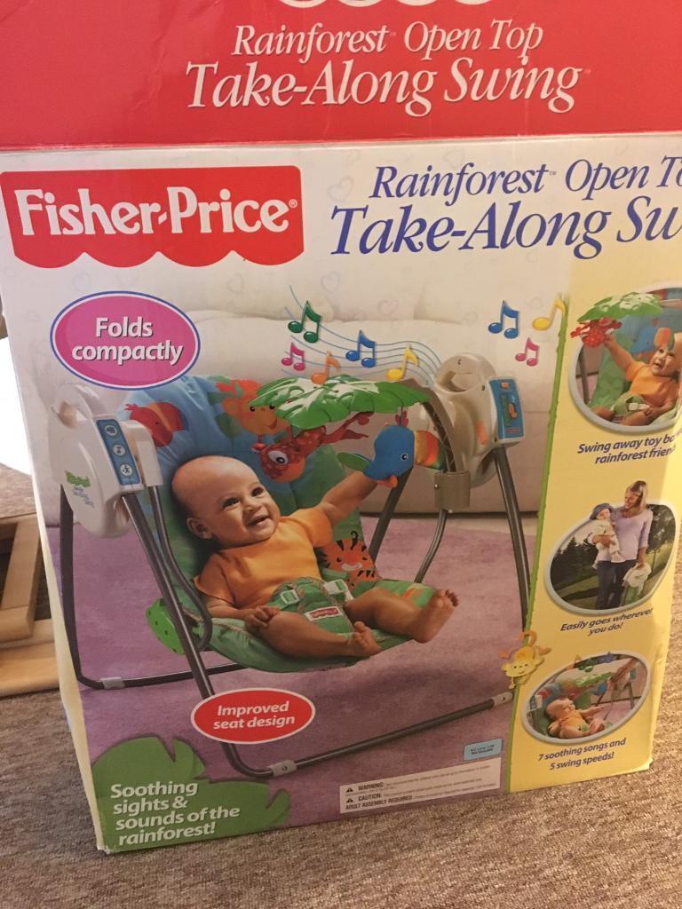 Fisherprice Rainforest Take along swing