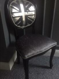chair in union-jack theme