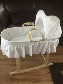Clair de Lune swinging crib - with rocking stand