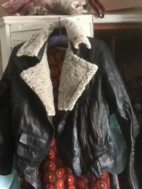 Oceanic ladies S leather jacket