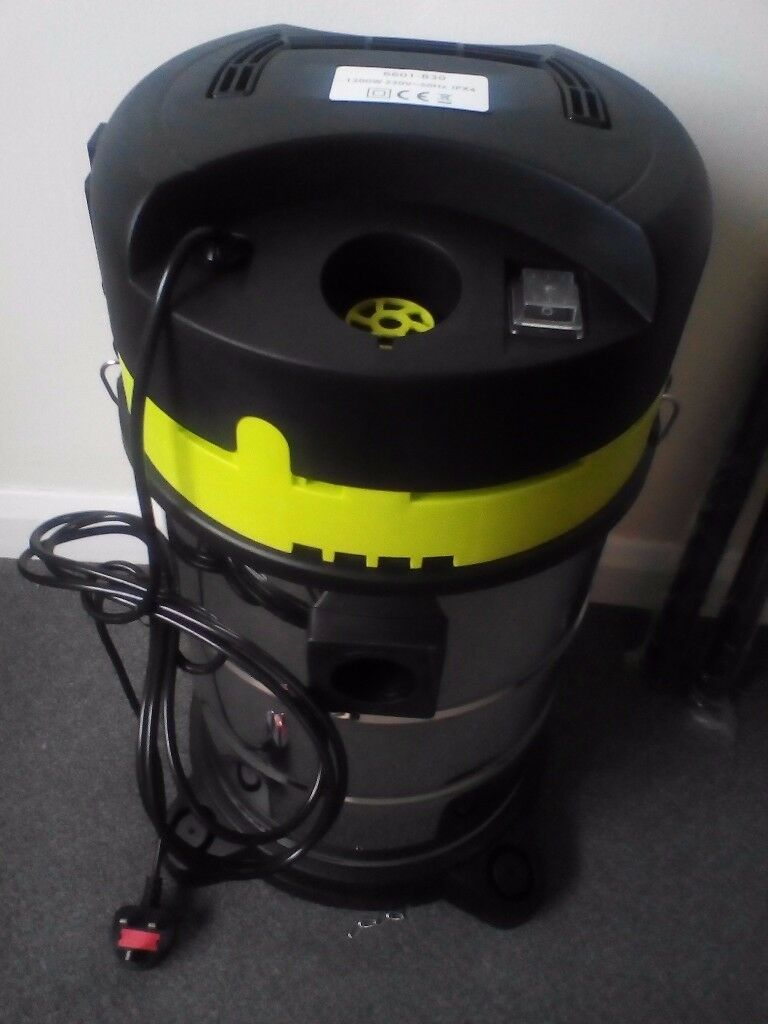 New 1200w Wet & Dry Vacuum Hoover Stainless Steel 30L - Valeting Commercial Home Shop - Carpet Clean