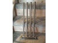 Ikea GRUNDTAL Towel holder with 4 Swivel bars stainless steel New No Packaging