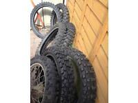 Good part worn motor x tyres