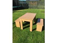 Table & Bench chairs