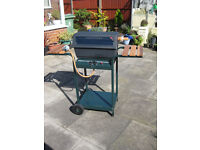 Lava Rock Gas Barbecue - v.g. condition with 2 gas bottles