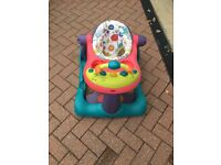Movable baby seat play station