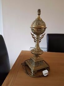 Solid brass electric table lamp