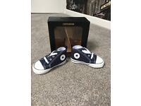 Brand new in the box baby Converse, Size 3