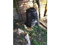 Plastic garden compost bin