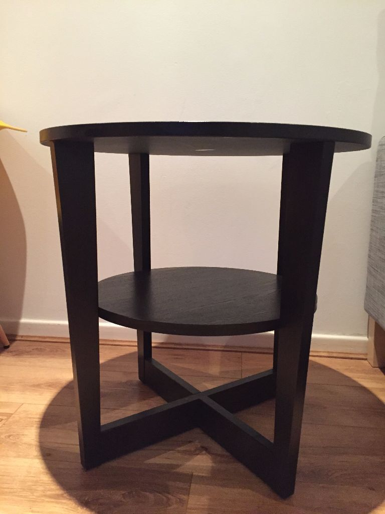 Ikea vejmon side table black brown in tooting london gumtree ikea vejmon side table black brown geotapseo Image collections