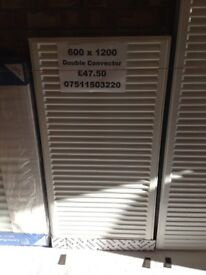CENTRAL HEATING RADIATOR STELRAD Double Convector 600 mm high x 1200 mm long.