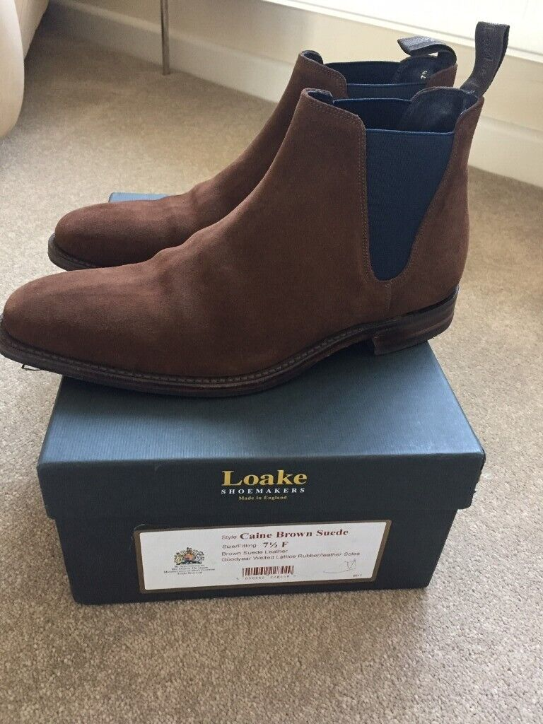 b01919a71d2 Loake Caine Mens Suede Chelsea Boots - Brown - Size 7.5 | in Kings Lynn,  Norfolk | Gumtree