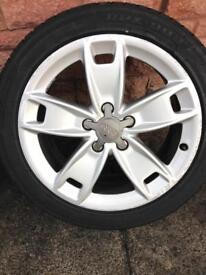 Audi 17 alloy wheels x4 with good tyres