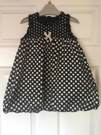 Girls Polka Dot Dress - 12-18 months