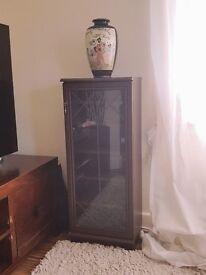 Floor standing Glass display cabinet. Vintage excellent condition