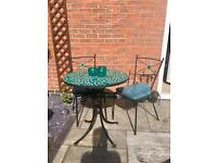 Garden Bistro Table and Chair Set