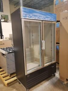 BRAND NEW DOUBLE DOOR GLASS FREEZER ( SCRATCH AND DENT UNIT )